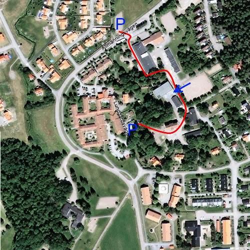 Karta, Bälinge skola och sporthall